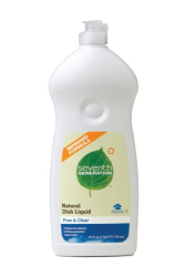 : Seventh Generation Dish Liquid, Free & Clear, 25-Ounce Bottles (Pack of 6)
