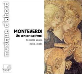 Monteverdi - Un concert spirituel, Motets à 1, 2 & 3 voix: René Jacobs, Judith Nelson, William Christie, Concerto Vocale