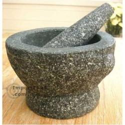 : 8-inch Granite Mortar and Pestle