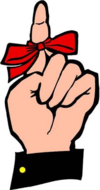 Reminder - Ribbon on Finger