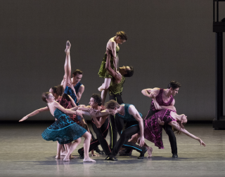 New York City Ballet in Peter Walker's ten in seven. Photo credit Paul Kolnik