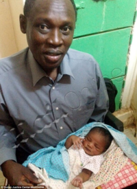 Daniel Wani and child