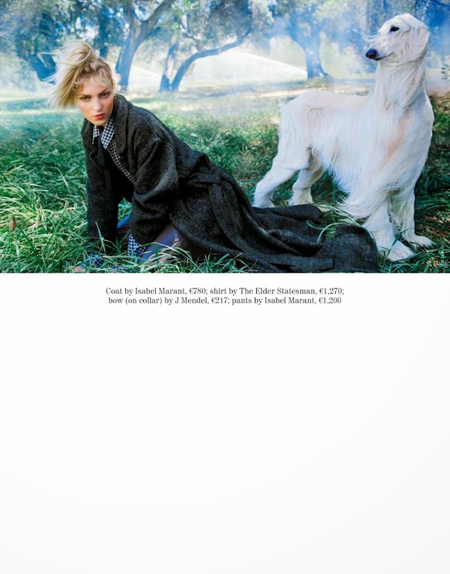 PORTER MAGAZINE Anja Rubik in Field of Dreams by Inez & Vinoodh. Melanie Ward, Fall 2014, www.imageamplified.com, Image Amplified