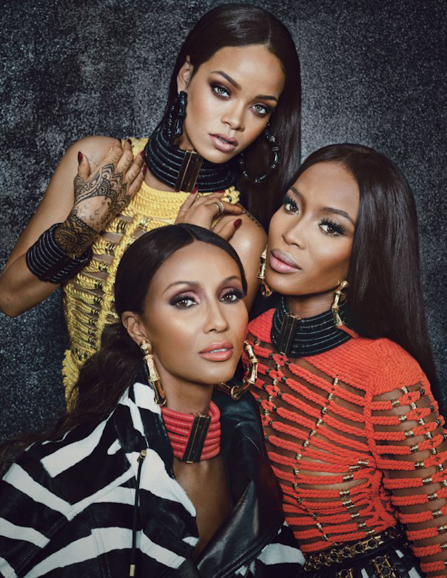 W MAGAZINE Naomi Campbell, Iman & Rihanna in Phresh Out the Runway by Emma Summerton. Edward Enninful, September 2014, www.imageamplified.com, Image Amplified