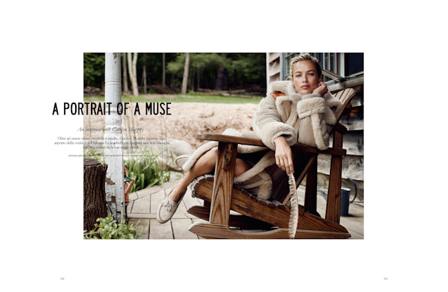 MUSE MAGAZINE Carolyn Murphy in A Portrait Of A Muse by Dan Martensen. Beth Fenton, Fall 2014, www.imageamplified.com, Image Amplified