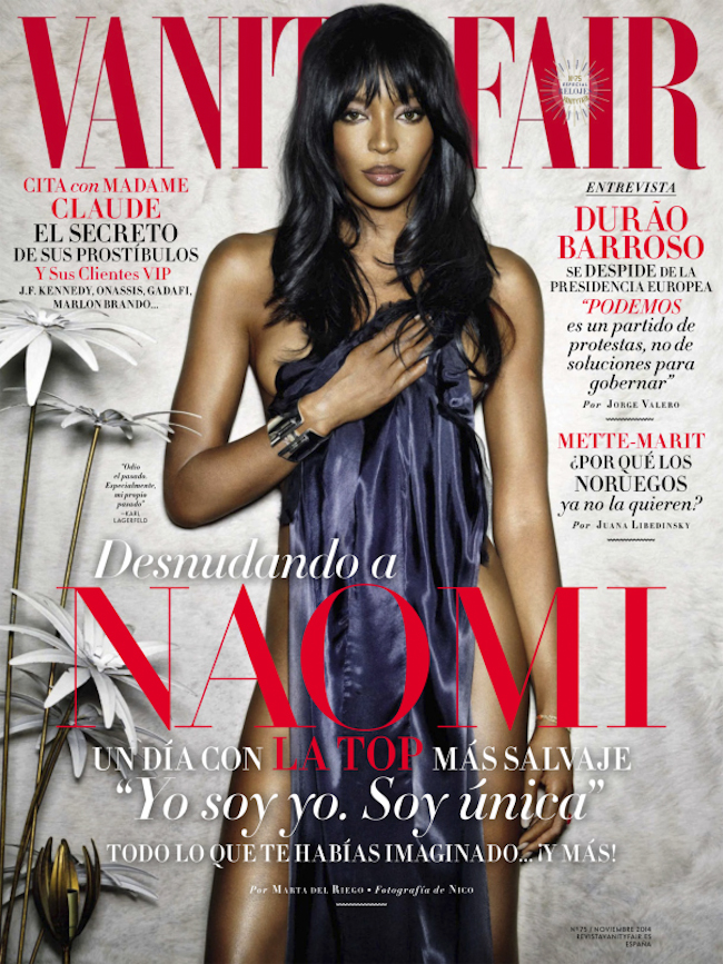 VANITY FAIR SPAIN Naomi Campbell by Nico Bustos. Carla Aguilar, November 2014, www.imageamplified.com, Image amplified