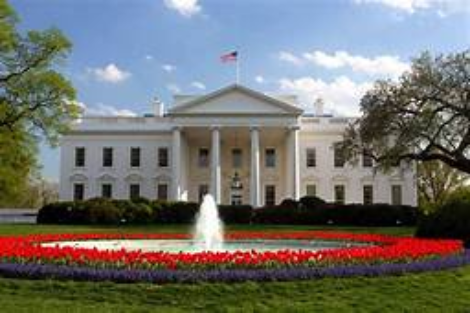 White House with fountain