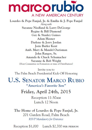 Rubio invite