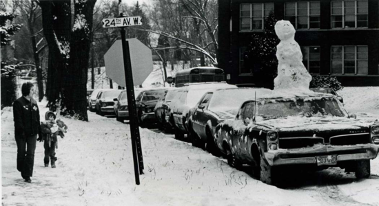 """""""Frosty the Snowman  was a jolly happy soul/With a GTO and a four-barrell carb and a vinyl roof, y'know...."""""""
