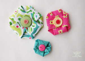 DIY no-sew fabric flowers