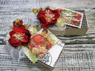 Vintage Valentine Boxes by Lynne Forsythe