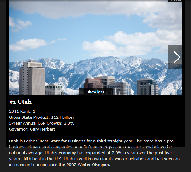 Utah Tops Forbes 2012 List Of The Best States For Business - Forbes
