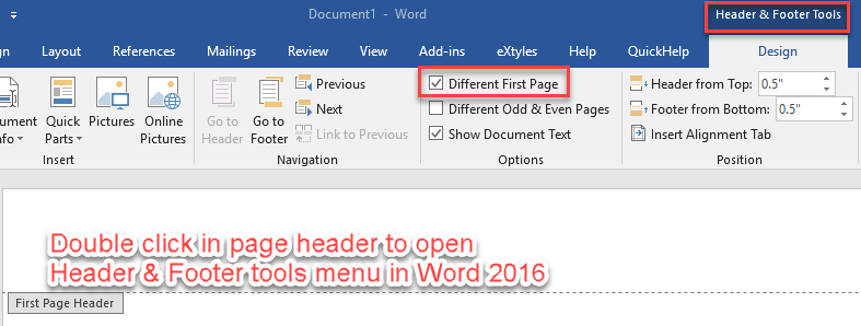 microsoft word 2016 whole test