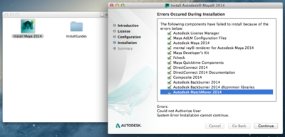 Could Not Authorize User