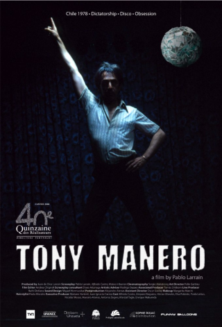 Tony Manero DVD Raúl Peralta, a middle-aged criminal in 1970's Chile, is obsessed with the idea of impersonating Tony Manero, John Travolta's character in Saturday Night Fever. Every Saturday evening, he unleashes his passion for the film's music by imitating his idol and leading a small group of dancers as they perform at a bar in the outskirts of the city. His dream of being recognized as a successful showbiz star is about to become a reality when a Tony Manero impersonating contest is announced on national television. However, his obsession to reproduce his idol's likeness and perfect his act drives him to commit a series of violent crimes and thefts, leading to shocking violence and murder.