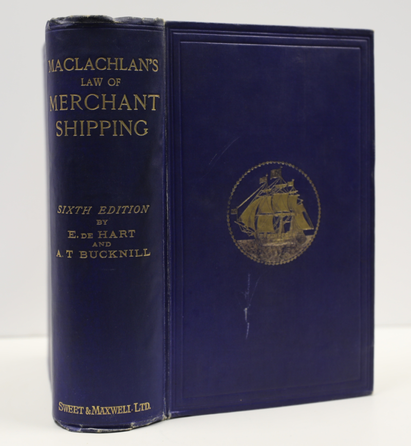 Macclachlan's Law of Merchant Shipping – 6th edition © 1922 priced at $50