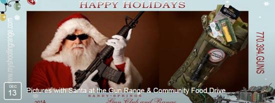 Guns and santa