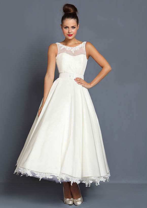 tea length wedding dresses for older brides tea length and 1950 s inspired wedding dresses by 7927