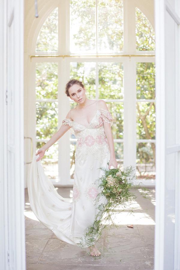 Elegant chic wedding dresses Claire Pettibone Amanda Garrett Cymbeline The Orangery Holland Park