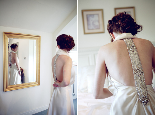David Fielden backless wedding dress