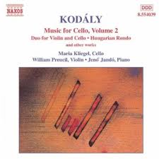 Kodaly / Music for Cello, Volume 2