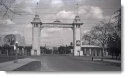 Dufferin Street Gate, looking north, 1953