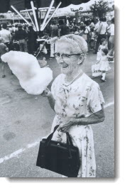 After visiting the Ex every year since 1913, CNE fan Elizabeth Perkins, 86, tried a candy floss for the first time this year and didn't like it