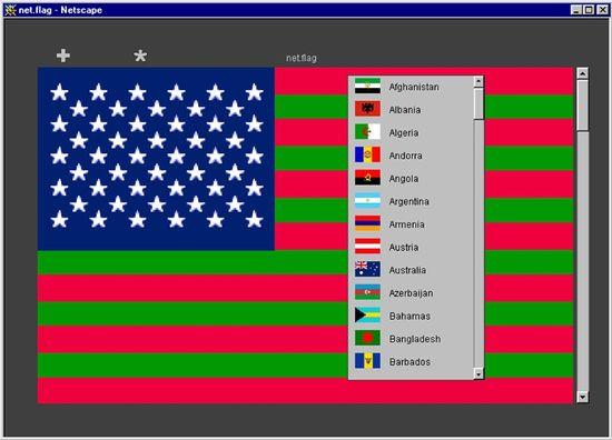 Mark Napier - net.flag usa_islam