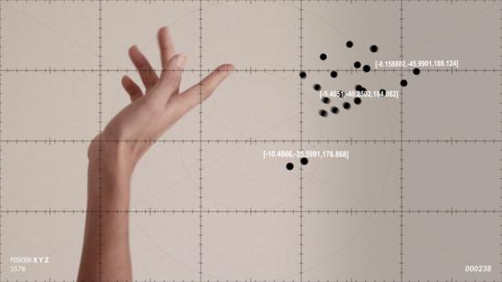 Ejercicios de medición sobre el movimiento amanerado de las manos de Manuel Arregi