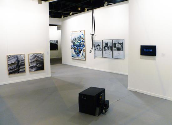 On Kawara Time Machine de Manuel Fernández en la Galería Moisés Pérez de Albéniz