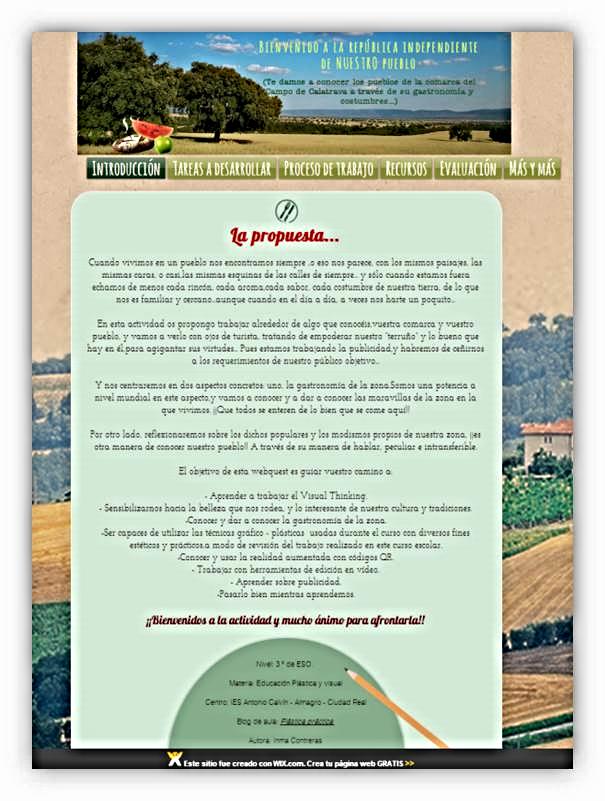 """Webquest del proyecto didáctico: """"Bienvenido a la república independiente de nuestro pueblo"""""""