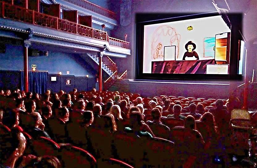 Proyección de la pelicula 'LOS DRAGONES DE ZALEO' en Cine Doré ante la comunidad educativa e invitados
