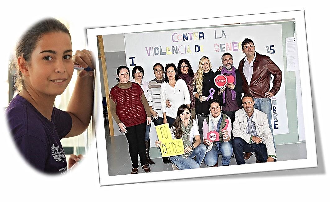 Conmemoración del Día internacional contra la Violencia de Género en el IES 'Cartima'