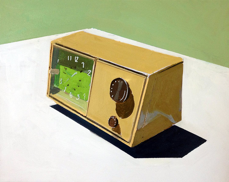 RCA Clock Radio, pintura de la colección 'Serie estática', de la artista estadounidense JESSICA BRILLI