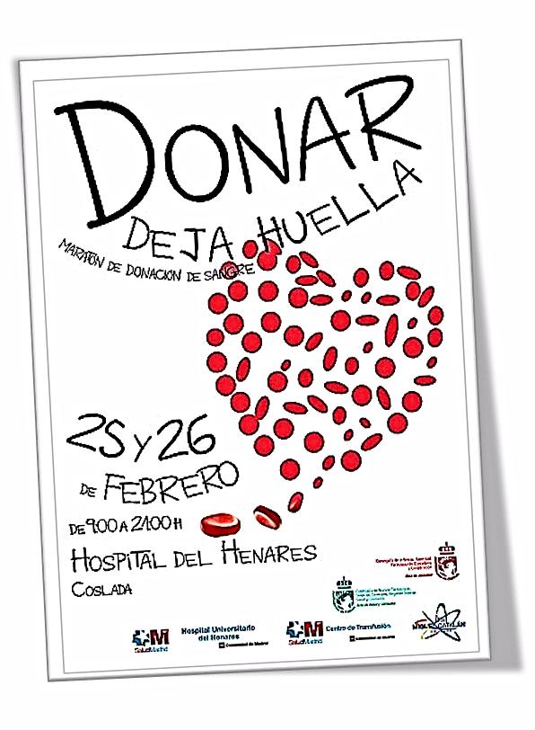 Cartel promocional, confeccionado por uno de los equipos del Proyecto: 'Maratón de donación de sangre'.