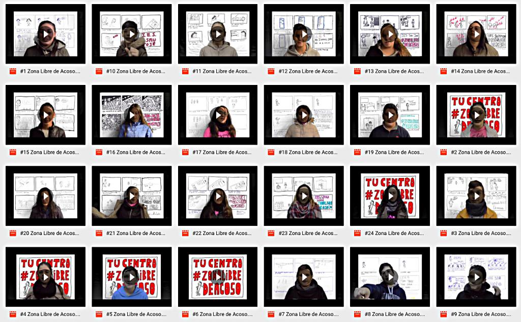 Posteriormente elaboraron un breve spot audiovisual contra el acoso, en base a las situaciones descritas en las viñetas