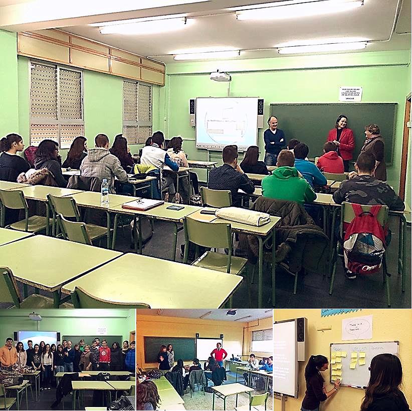 """Sesiones de formación con el grupo de """"Alumnos y Alumnas ayudantes TIC"""" en el IES 'Los Rosales'"""