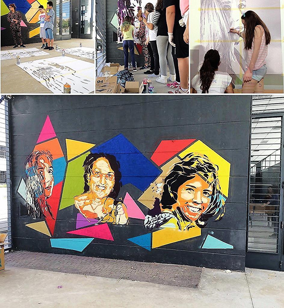 Elaboración y producto final de la experiencia educativa con BTOY: graffiti sobre tres mujeres