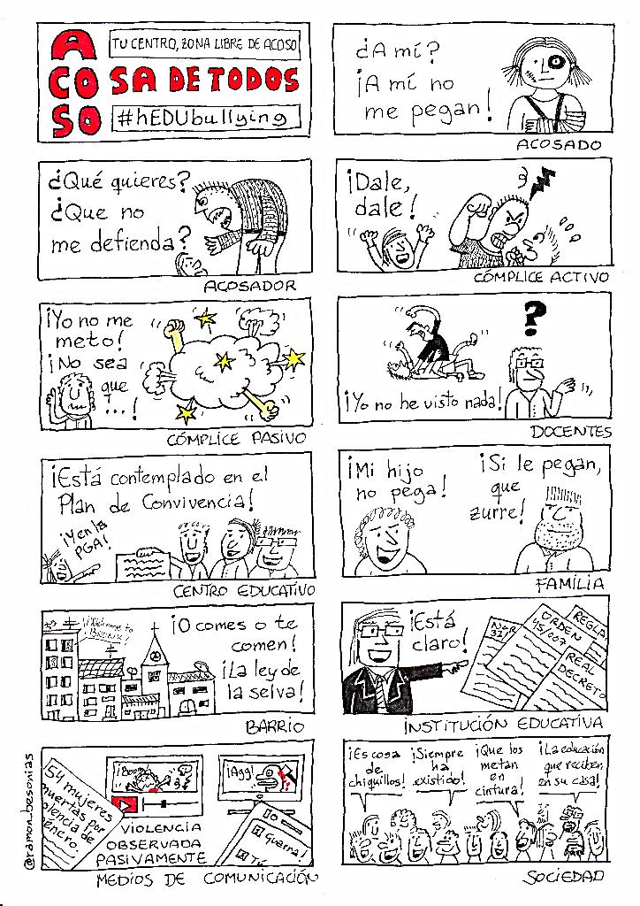 #acosoescolar cosa de todos. Acoso, actores | Ramón Besonias