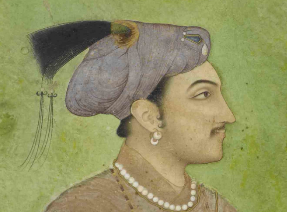 Detail from Portrait of Prince Salim (future emperor Jahangir) Mughal, c. 1620-30 British Library, Add.Or.3854