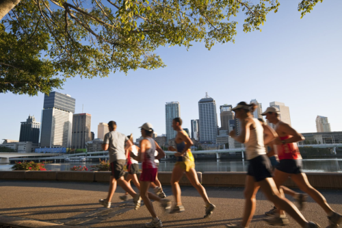 'Footing' por el Southbank de Brisbane (Australia) / Andrew Watson