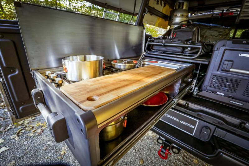 2020 Ram 1500 Rebel OTG Concept Slide-Out Kitchen