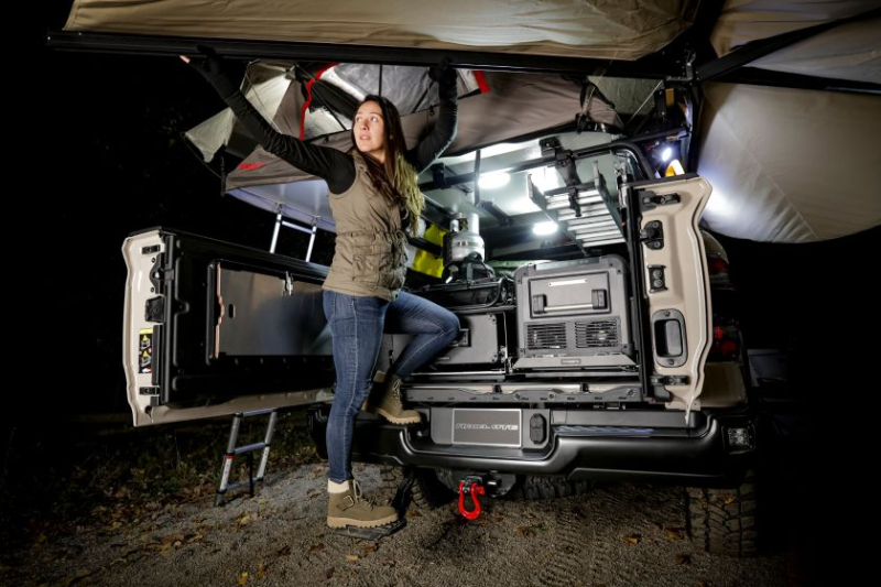2020 Ram 1500 Rebel OTG Concept Nighttime Camping