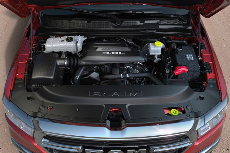 2020 Ram 1500 EcoDiesel Engine Closeup
