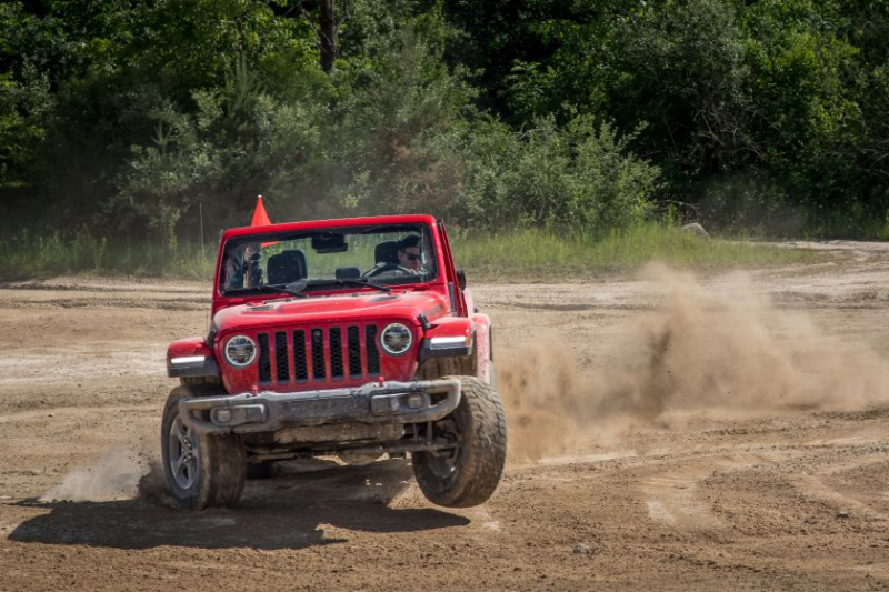 2020 Jeep Gladiator Rubicon Landing In Sand
