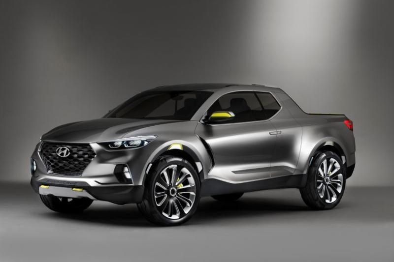Hyundai Santa Cruz Pickup Truck Front Angle Profile