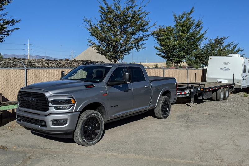 2020 Ram 2500 With Flatbed Trailer Attached
