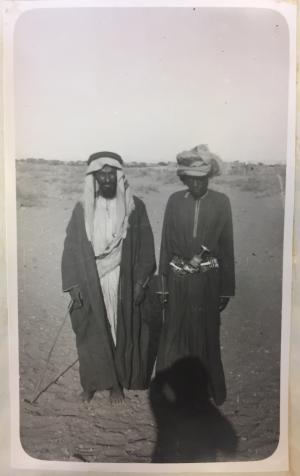 Shaikh Mohamed bin Rahmah bin Salman of Sumaini, Al Bu Shams (Left) and Mudhaffar, Wali of Sohar (Right)
