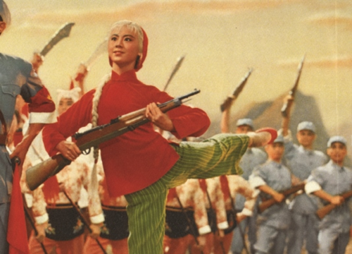 Detail from the yang ban xi ballet poster白毛女, Bai mao nü, The White-Haired Girl, 77 x 53cm, 1972 (British Library ORB. 99/178)