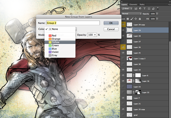 PSD_COLOR TAG_GROUPED LAYERS
